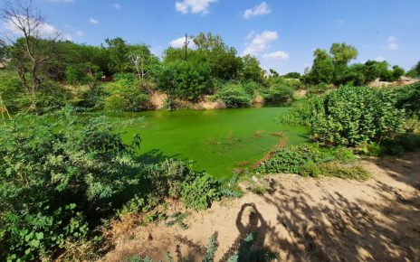 Trouble in beautification due to illegal occupation of land of Adarsh ​​pond