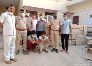 Manoharpur police arrested two accused with 535 cartons of illicit liquor