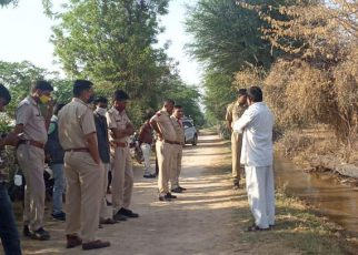 Dead body of newborn found floating in jawai canal